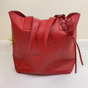 Frye NWT Red Carson DB0104 Tote Bag